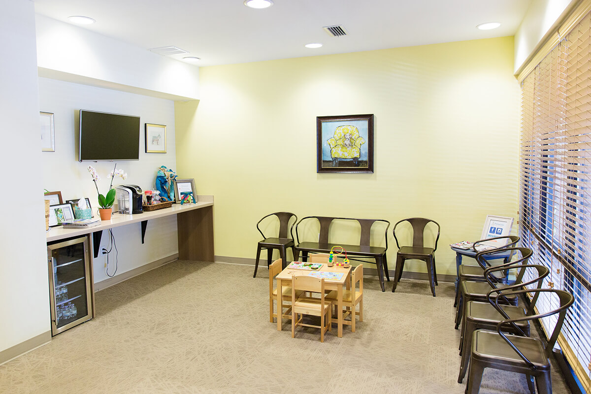 Waiting area at Pensacola Kids Dentistry in Pensacola, FL